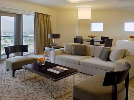 1Br Furnished Apartment with Burj View (no commission or extra fees)