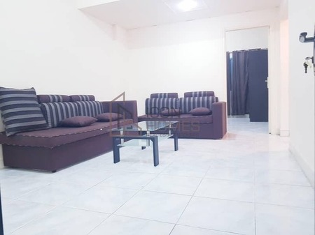 Close to Dubai Border furnished 1bhk available With Balcony