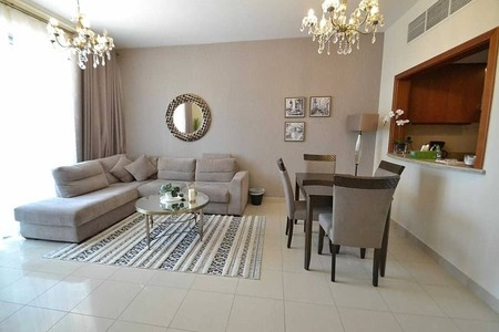 12 cheques | Furnished 1 Bedroom | No early termination charge | Dt