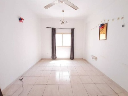 One month free 1bhk in just 17k with ac Central family Building in national paint muwaileh